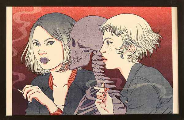 "Risograph: ""Graveyard Girls"" by Jenn Woodall"