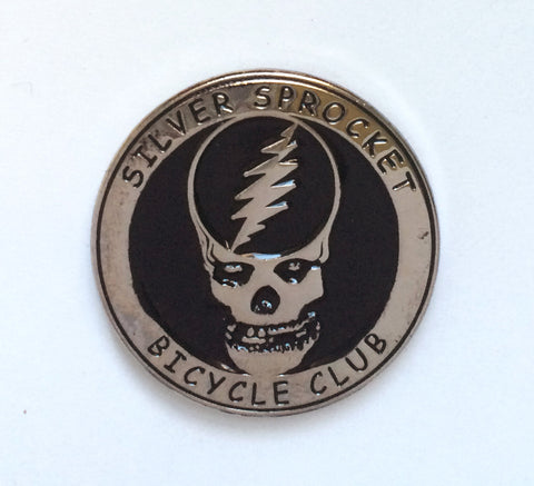 "Enamel Pin: Silver Sprocket ""Grateful Danzig"""
