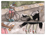 Print: Bike Accident by Lauren Monger