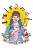 Print: Our Lady of Self Defense by Jenn Woodall
