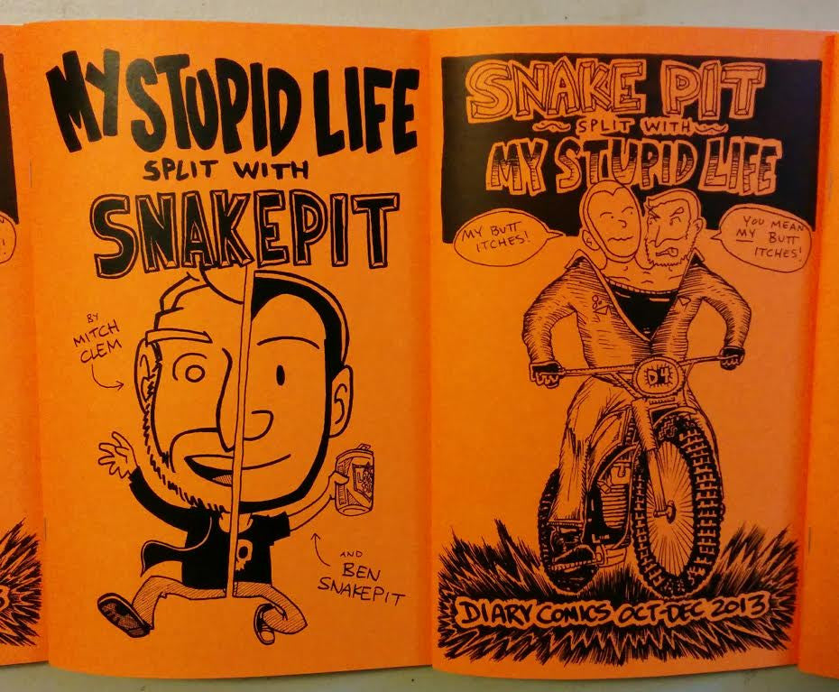 Snake Pit split with My Stupid Life (Zine) by Mitch Clem and Ben Snakepit
