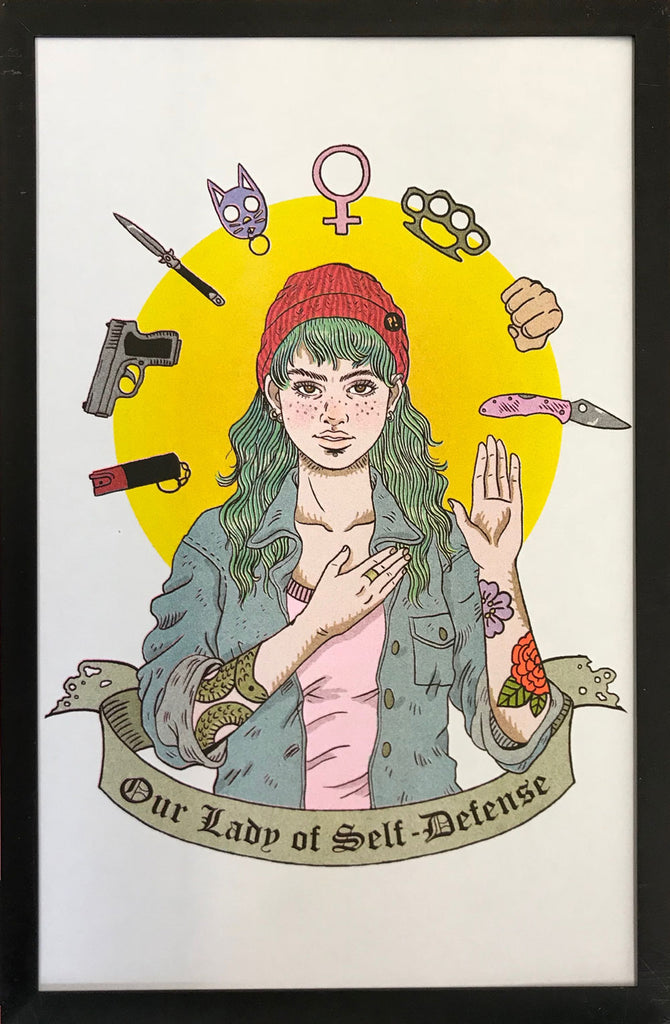 "Risograph: ""Our Lady of Self-Defense"" by Jenn Woodall"