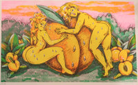 Peach Gals (Risograph Print) by Anjelica Colliard
