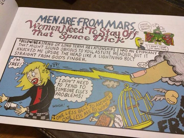 Comic: Men Are From Mars... Women Need To Lay Off That Space Dick by Janelle Hessig