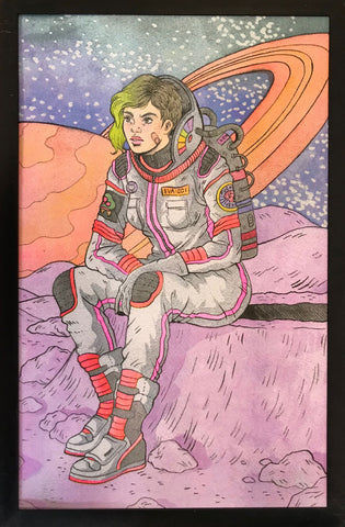 "Risograph: ""Space Punk"" by Jenn Woodall"