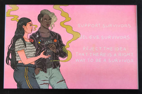 "Risograph: ""Support Survivors"" by Jenn Woodall"