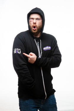 """Twitch Style"" Purple Logo Zip-Up Hoodie"