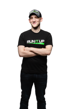 Run It Up T-Shirt with Green Logo