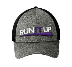 New Era Purple Logo Mesh Hat