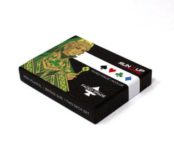 RIU Logo 4-Color Plastic Playing Cards 2-Deck Pack