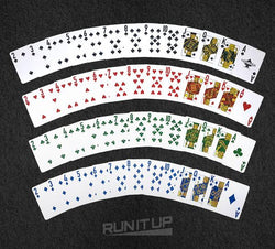 RIU Logo 4-Color Plastic Textured Playing Cards 2-Deck Pack