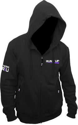 Black Team RIU Hoodie with Purple Logo