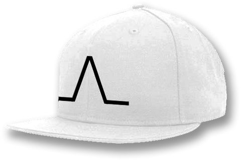 White Peaking Flexfit Hat
