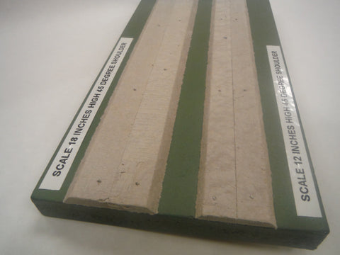 HO scale 45 degree beveled roadbed