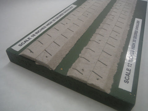 HO scale 30 degree beveled roadbed