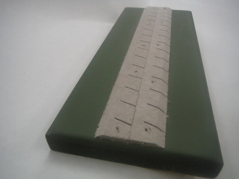 "HOn3 thin roadbed.  Scale 10"" thick (3mm actual), 30 degree shoulders, 8'"