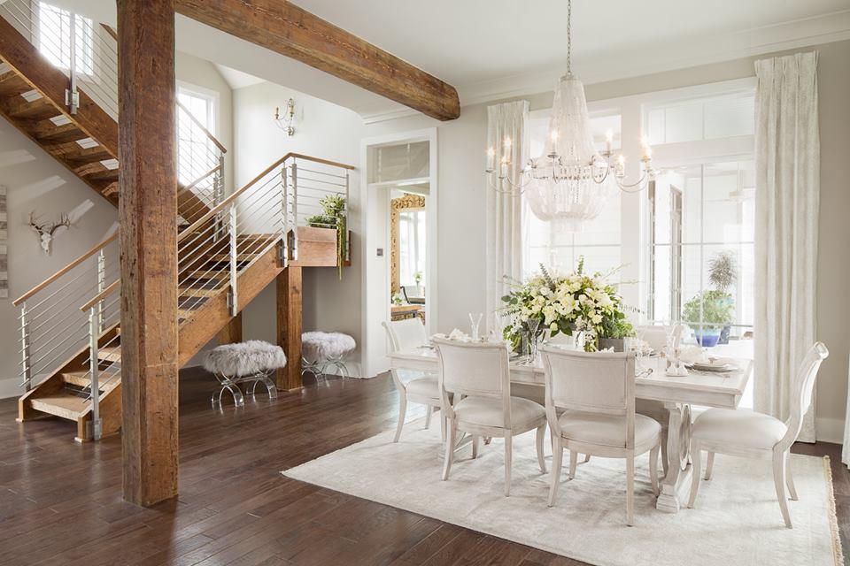 Jodi Bolgiano Custom Interiors Dirty Top Pine Ceiling and Wooden Chandelier