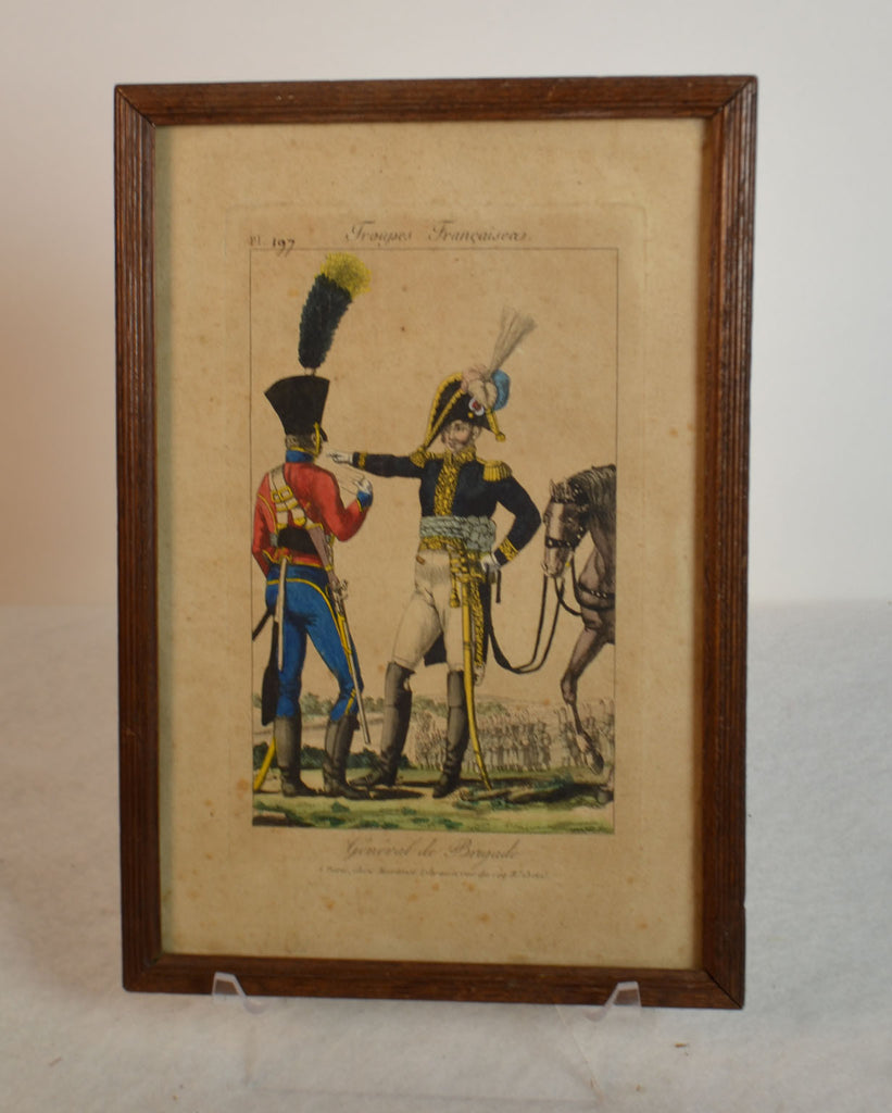 Framed Empire Period Engravings Of French Cavalry