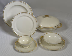 Rosenthal 89-Piece Winifred  Gold  Dinner Set, Service for 8 plus.