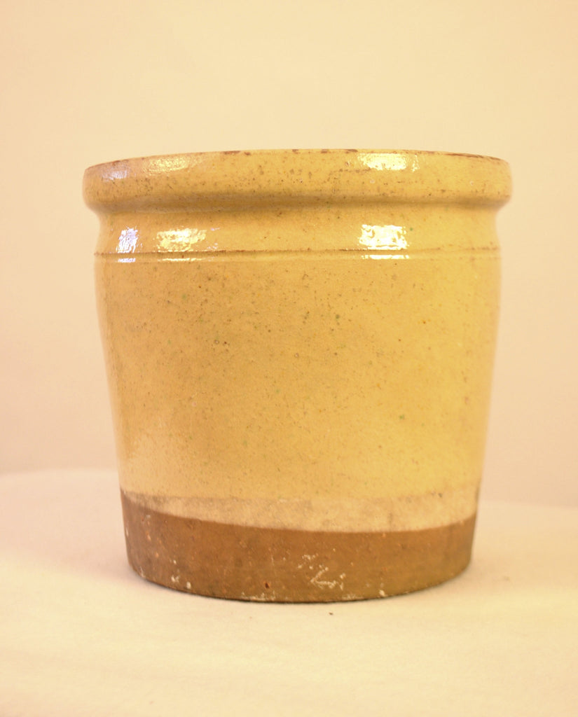 Enameled Terra Cotta Pot