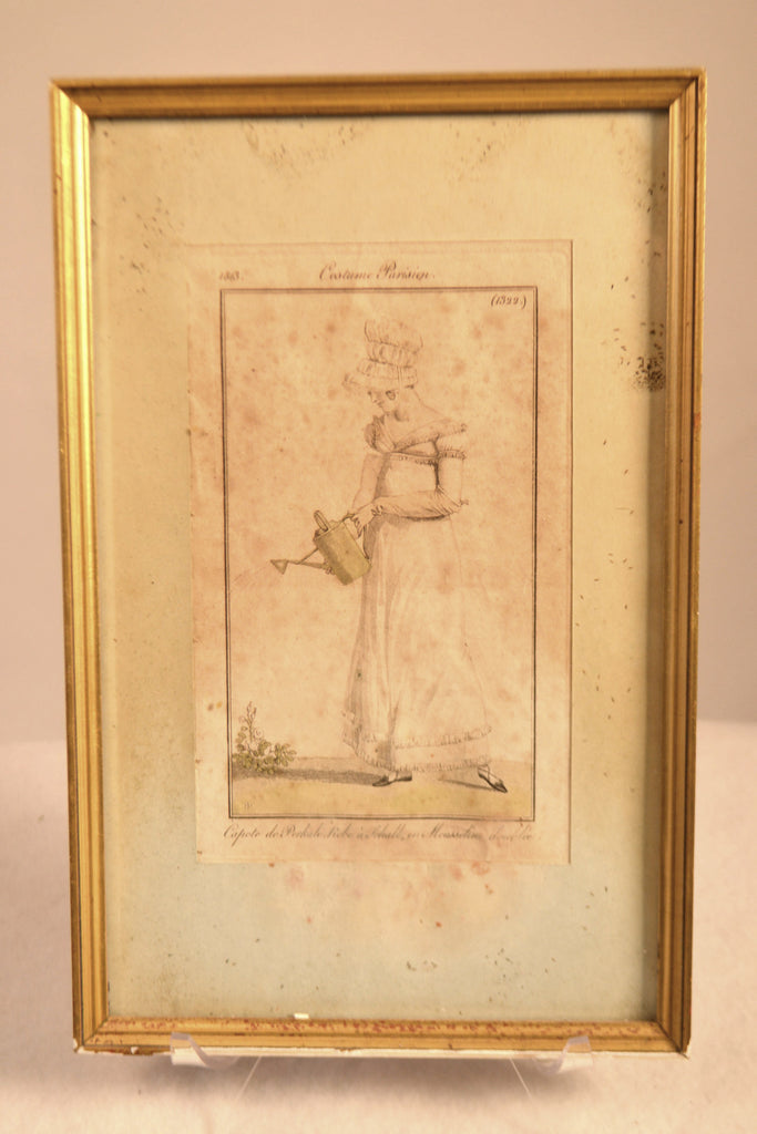 Framed Fashion Engraving