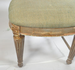 Set of Eight Dining Chairs, Two Arm, and Six Side ,  Parcel-Gilt and Polychromed