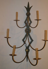 Mid 20th Century Pair Of Iron Sconces