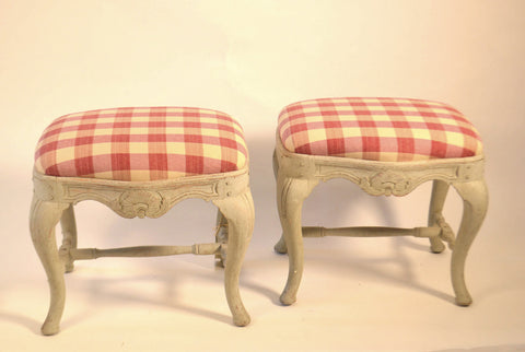 Pair Of Swedish Footstools