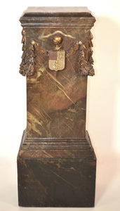 "Wooden Stand With ""Fleur de Lys"" Coat Of Arms"