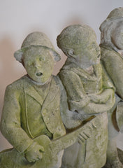 Carved Stone Statue Of Children