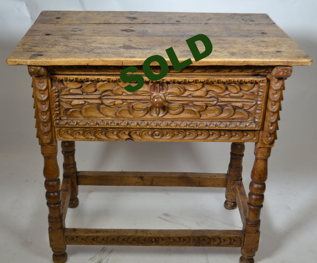 Latest th century spanish colonial side table peru with - Commode style colonial ...
