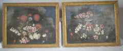 Pair of Decorative Oils on Canvas
