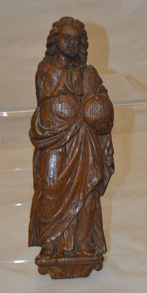 Continental Carved Walnut Figure