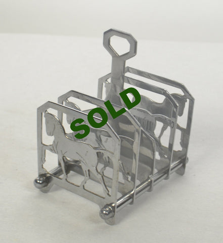 Art Deco Horse 5 bar Letter/Toast Rack
