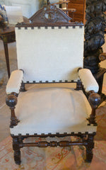 French Louis XIII  Fauteuil