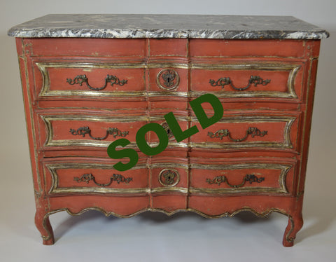 Louis XV  Commode With Marble Top