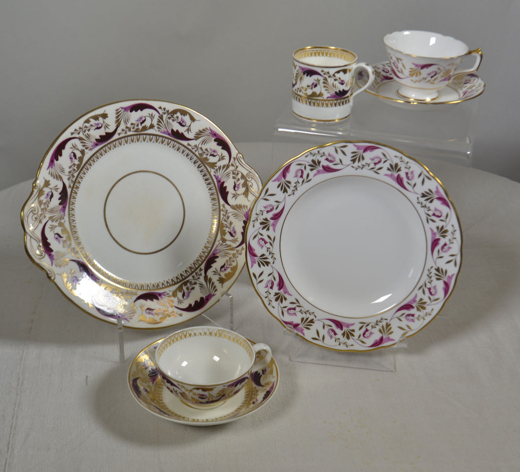 ROYAL CROWN DERBY 56-PIECE PRINCESS PARTIAL TEA SERVICE