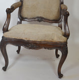 Pair of Louis XV  Walnut Fauteuils