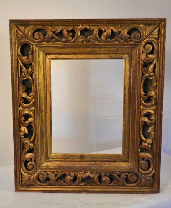 Italian Carved Wood Giltwood Frame