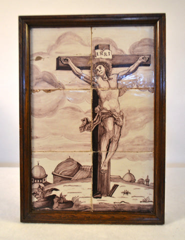 Delft Tile Panel (Christ)