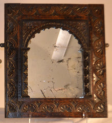 French Provincal Carved Oak Mirror