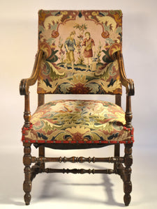 Louis XIII  Fruitwood Fauteuil
