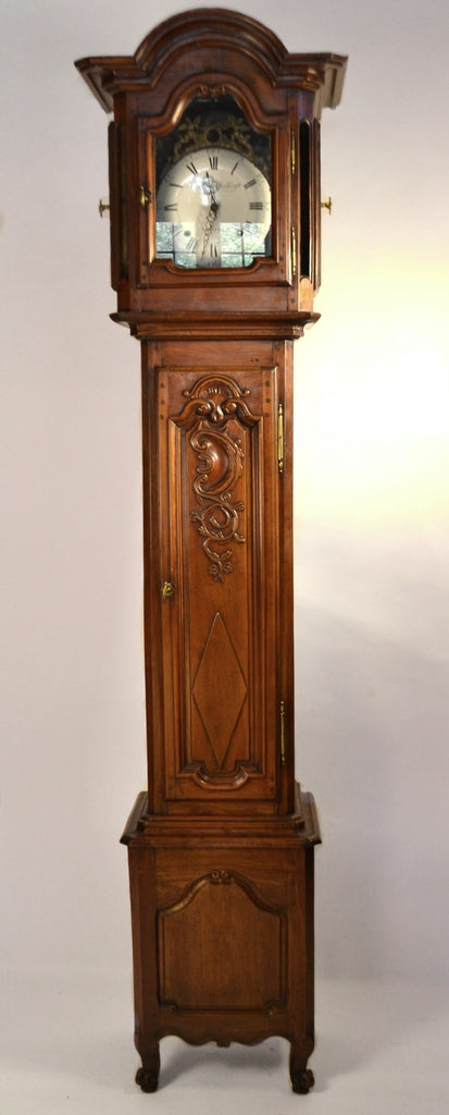 Cherry Floor Clock From Brittany (Rennes)