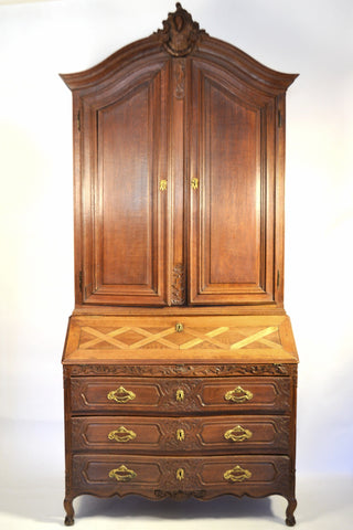 Louis XVI Oak Secretair