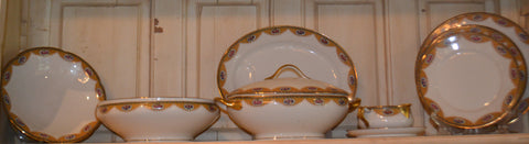52 Piece set of Limoges Porcelain Dinnerware