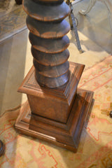 French Provincial Carved Cherry Wine Press Screw