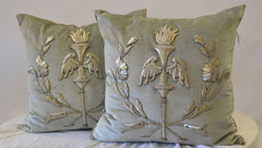 Pair of Embroidery Pillows