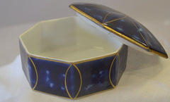 Blue and White Limoges Vintage Jewelry Box