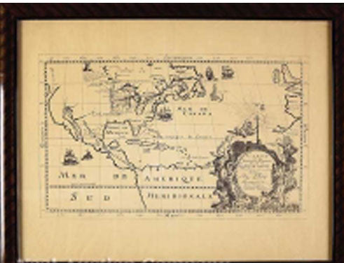 Father Louis de Hennepin Copper-plate Engraved Map
