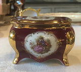 Porcelain vintage box, Limoges, shape of a commode